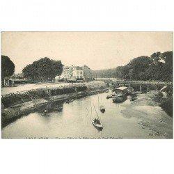 carte postale ancienne K. 95 L'ISLE-ADAM. Le Patis avec Pêcheurs 1907