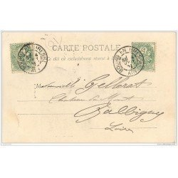 carte postale ancienne 01 BRESSANNE. Coiffe traditionelle se rendant au Marché 1901