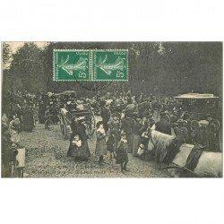 carte postale ancienne K. 95 PRESLES. Equipage du Prince Murat. La Sainte-Hubert. Cliché assez rarePour Chasse à courre