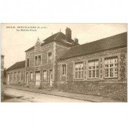 carte postale ancienne K. 95 SURVILLIERS. La Mairie Ecole