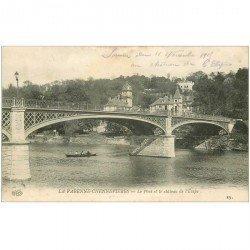 carte postale ancienne 94 LA VARENNE CHENNEVIERES. Le Pont 1908