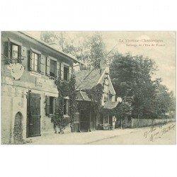 carte postale ancienne 94 LA VARENNE CHENNEVIERES. Auberge de l'Ecu de France 1903