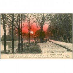 carte postale ancienne 94 LA VARENNE A CHAMPIGNY. Quai de Bonneuil avec Cheval