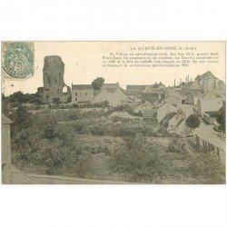 carte postale ancienne 94 LA QUEUE EN BRIE. Le Village vers 1905