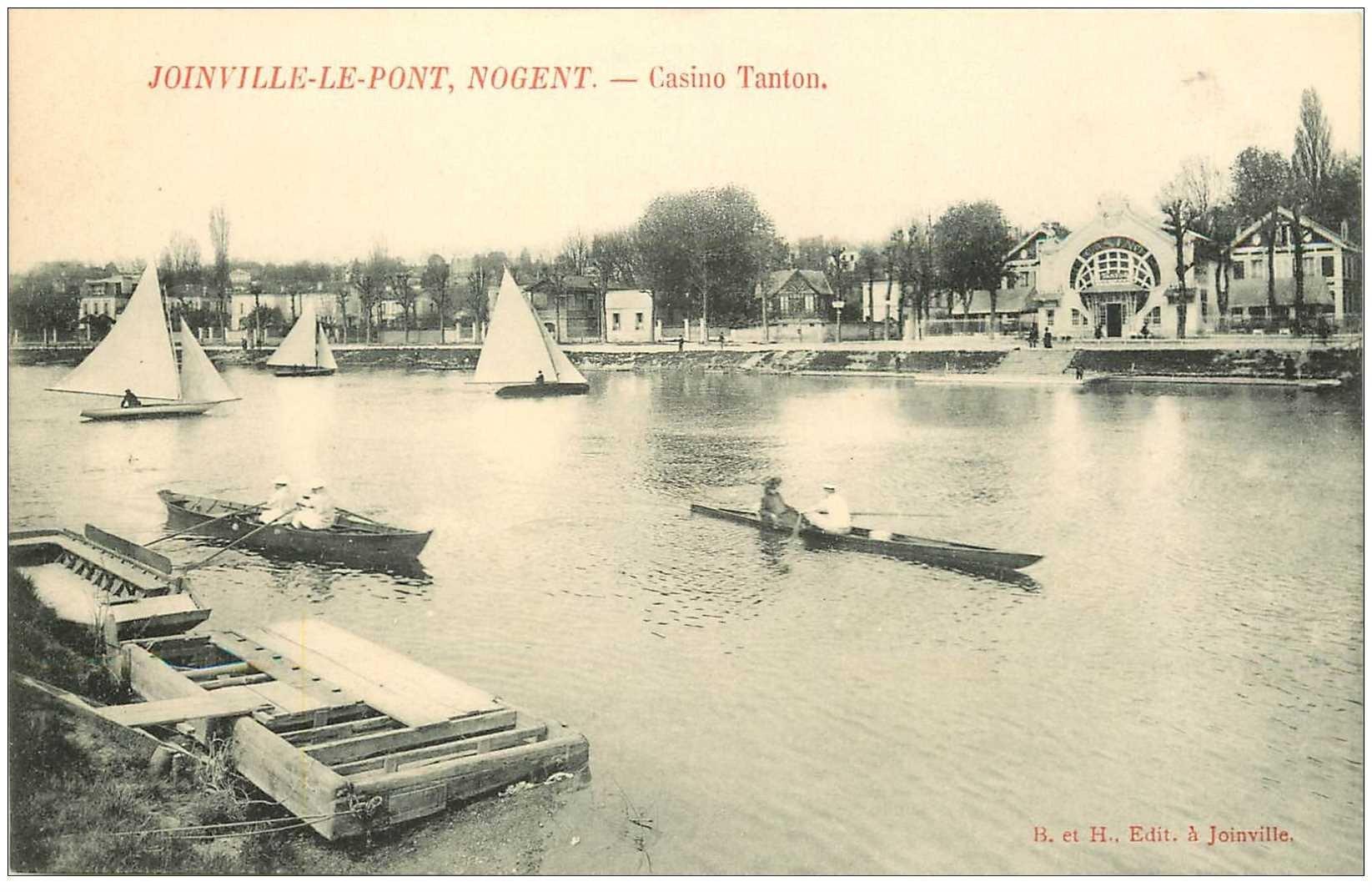 carte postale ancienne 94 JOINVILLE LE PONT. Casino Tanton et Canotage