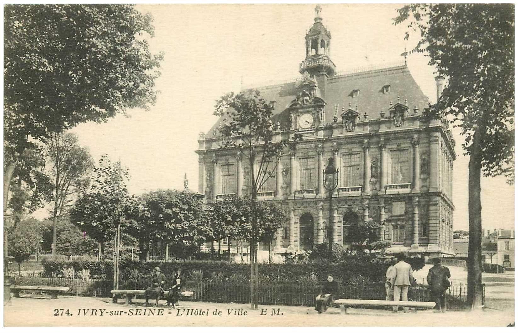 carte postale ancienne 94 IVRY SUR SEINE. L'Hôtel de Ville