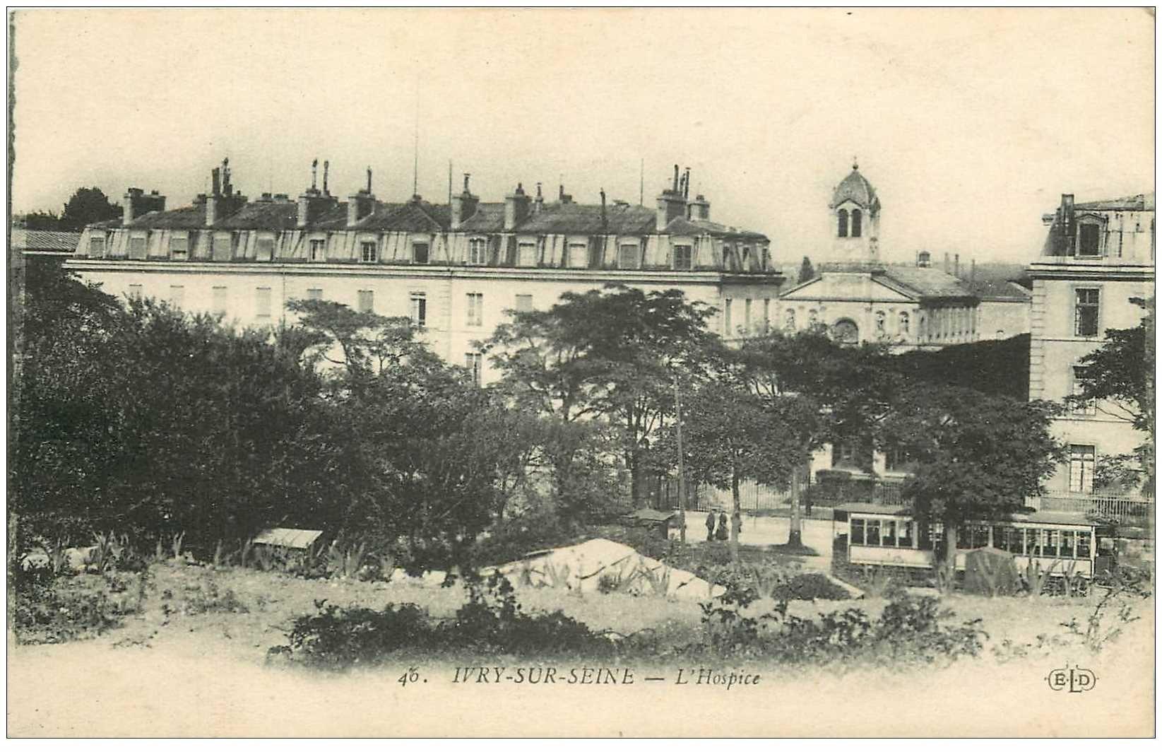 carte postale ancienne 94 IVRY SUR SEINE. L'Hospice 1918