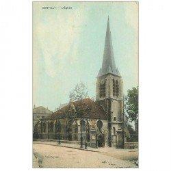 carte postale ancienne 94 GENTILLY. L'Eglise 1910 manque un timbre sur deux verso