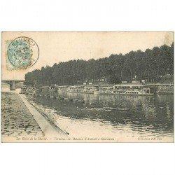 carte postale ancienne 94 CHARENTON LE PONT. Terminus des Bateaux mouche 1905