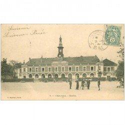carte postale ancienne 94 CHARENTON LE PONT. Les Ecoles 1904 fine plissure