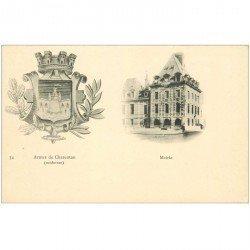 carte postale ancienne 94 CHARENTON LE PONT. La Mairie et les Armes