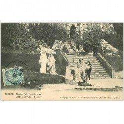 carte postale ancienne 94 CHAMPIGNY SUR MARNE. Phèdre au Théâtre Antique de la Nature 1906