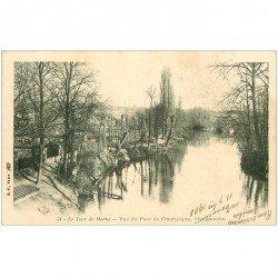 carte postale ancienne 94 CHAMPIGNY SUR MARNE. Les Quai vus du Pont 1903