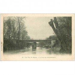 carte postale ancienne 94 CHAMPIGNY SUR MARNE. Le Pont vers 1900