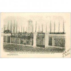 carte postale ancienne 94 CHAMPIGNY SUR MARNE. Le Monument des Combattants 1903