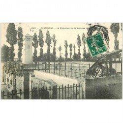 carte postale ancienne 94 CHAMPIGNY SUR MARNE. Le Monument de la défense 1870-71 en 1911
