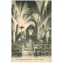 carte postale ancienne 94 CHAMPIGNY SUR MARNE. L'Eglise intérieur