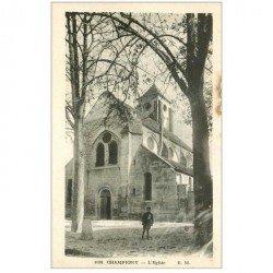 carte postale ancienne 94 CHAMPIGNY SUR MARNE. L'Eglise avec Garçonnet