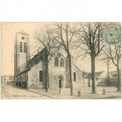 carte postale ancienne 94 CHAMPIGNY SUR MARNE. L'Eglise 1906