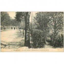 carte postale ancienne 94 CHAMPIGNY SUR MARNE. Côte de Chennevières et Chemin des Larris