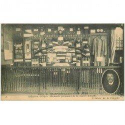 carte postale ancienne 94 CHAMPIGNY SUR MARNE. Collection d'Objets de la Guerre à la Mairie. Trous de punaise
