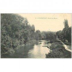 carte postale ancienne 94 CHAMPIGNY SUR MARNE. Bords de Marne