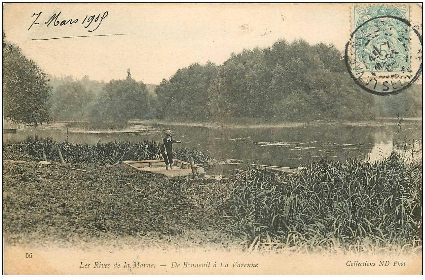 94 bonneuil sur marne la p che aux ecrevisses sur les rives la varenne 1905. Black Bedroom Furniture Sets. Home Design Ideas