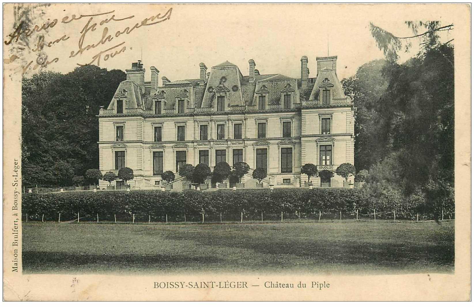 94 boissy saint leger ch teau du piple 1903. Black Bedroom Furniture Sets. Home Design Ideas