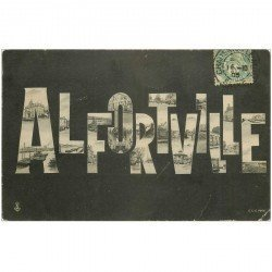 carte postale ancienne 94 ALFORTVILLE. Multivue fantaisie 1905. Minuscule pli coin droit