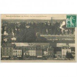 carte postale ancienne K. 92 MEUDON. Maison Guilbert Courtois et publicité Bengaline 1909