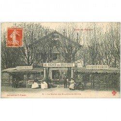 carte postale ancienne K. 92 FORET DE MEUDON. Auberge Le Rocher des Bruyères de Sèvres 1912