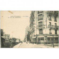 carte postale ancienne K. 92 BOIS-COLOMBES. La Poste Rue des Aubépines 1919