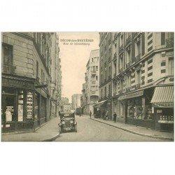 carte postale ancienne K. 92 BECON-LES-BRUYERES. Pharmacie et Epicerie Rue de Strasbourg voiture ancienne