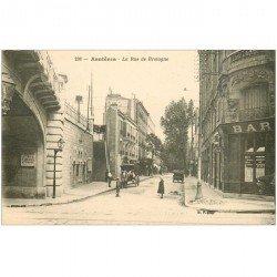 carte postale ancienne K. 92 ASNIERES SUR SEINE. Rue de Bretagne Bar et Octrois