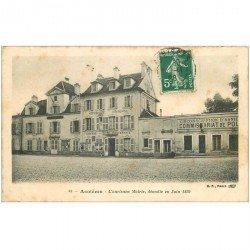 carte postale ancienne K. 92 ASNIERES SUR SEINE. Ancienne Mairie et Commissariat de Police 1908