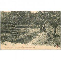 carte postale ancienne 92 VILLEBON. Promenade à Cheval de l'Etang dans la Forêt de Meudon