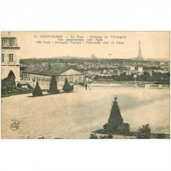 carte postale ancienne 92 SAINT CLOUD. Terrasse Orangerie au Parc 1934
