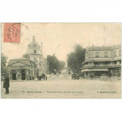 carte postale ancienne 92 SAINT CLOUD. Place d'Armes Avenue du Palais 1905