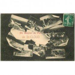 carte postale ancienne 92 SAINT CLOUD. Parc un Bonjour multivues