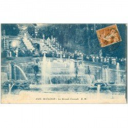 carte postale ancienne 92 SAINT CLOUD. Parc la Grande Cascade 1929