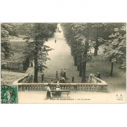 carte postale ancienne 92 SAINT CLOUD. Parc La Fontaine 1908