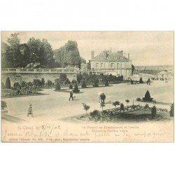 carte postale ancienne 92 SAINT CLOUD. Parc Château et Pavillon Valois 1902