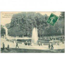 carte postale ancienne 92 SAINT CLOUD. Parc Bassin du Fer à Cheval des Grandes Eaux 1910