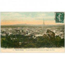 carte postale ancienne 92 SAINT CLOUD. Panorama pris de la Lanterne de Diogène 1908