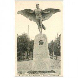 carte postale ancienne 92 SAINT CLOUD. Les Coteaux Monument à Santos Dumont