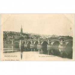 carte postale ancienne 92 SAINT CLOUD. Le Pont vers 1900