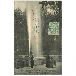 carte postale ancienne 92 SAINT CLOUD. Le Grand Jet Grandes eaux 1907