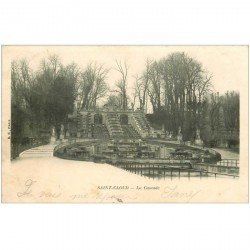 carte postale ancienne 92 SAINT CLOUD. La Cascade 1902