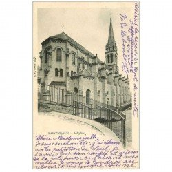 carte postale ancienne 92 SAINT CLOUD. L'Eglise 1903