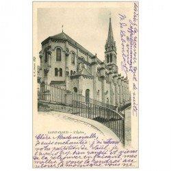 carte postale ancienne 92 SAINT CLOUD. L'Eglise 1903